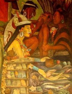 Detail of Diego Rivera mural at National Palace, Mexico City. Photograph by Theresa Delgadillo
