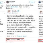 """No, no hay pruebas de que Elisa Beni haya tuiteado que es """"intolerante"""" defender expulsar a """"unos niños inocentes"""" por """"violar a una chica"""""""