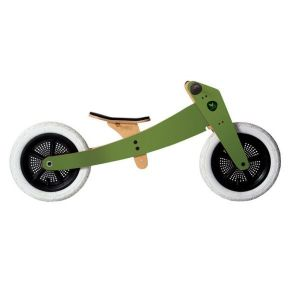 Zeleni Wishbone drveni bicikl