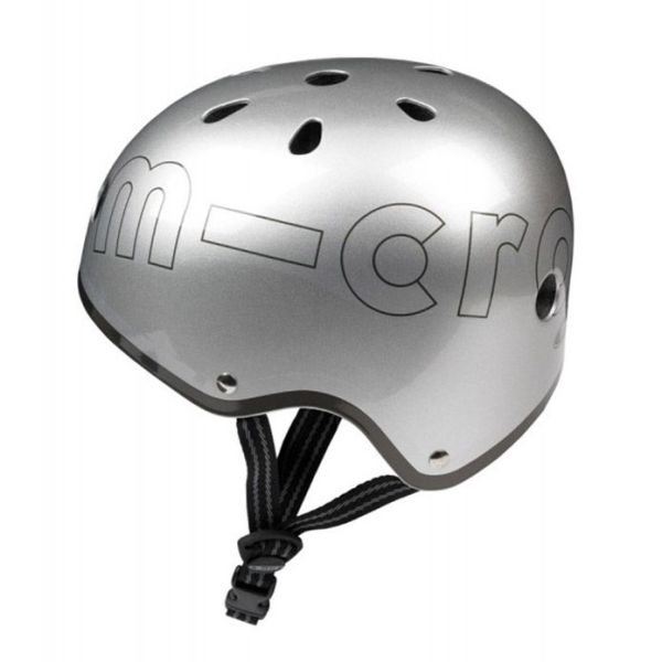Kaciga za djecu Micro srebrna