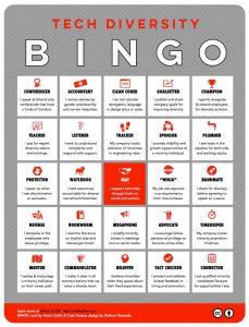 Male Allies Bingo Card