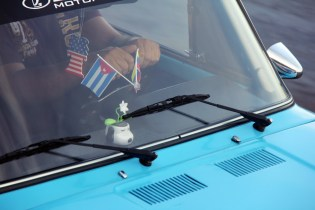Showing Cuban pride with dashboard flags.