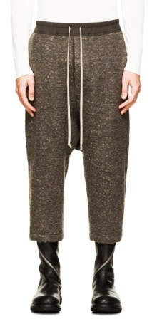http://www.ssense.com/en-us/men/product/rick-owens/taupe-cropped-lounge-pants/1179283