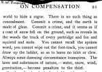 Emerson, Essays, Compensation