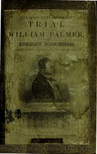 Cover of William Palmer Pamphlet detailing this case