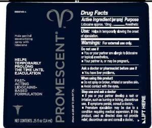 label of Promescent Spray