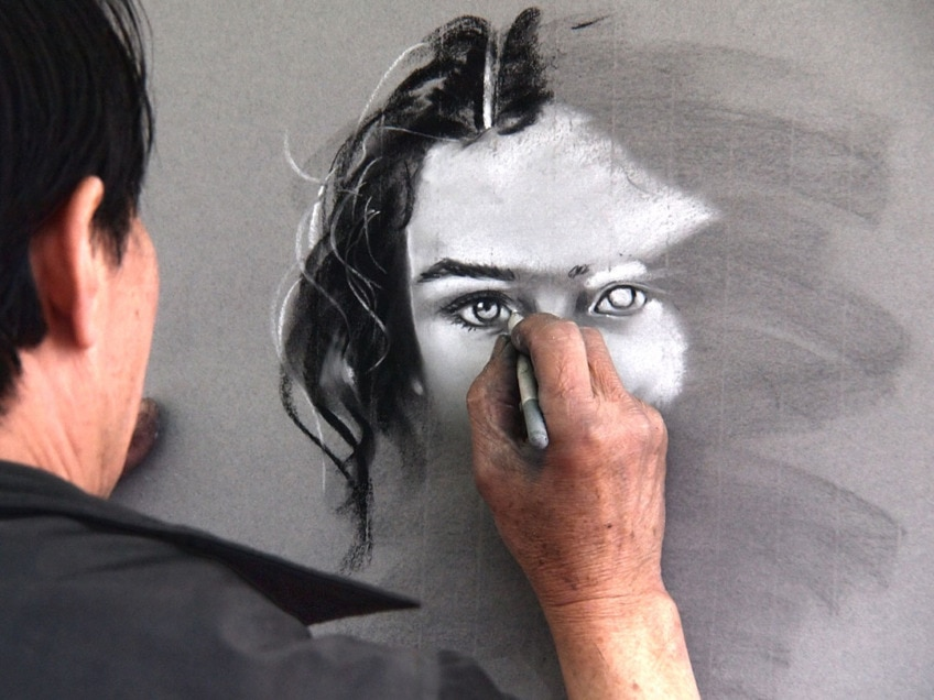 Faces 2 Portraitmalerei Mit Acryl Youtube