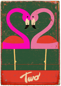 Vintage Pink Flamingos