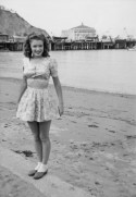 Norma Jeane Baker in Avalon, Catalina Island in 1943, 16 y.o.