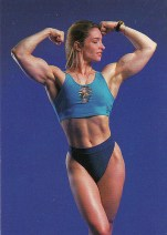 Queer muscle woman from 1980s