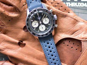 bracelet rallye bleu cuir long