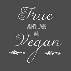 Os verdadeiros amantes dos animais são veganos