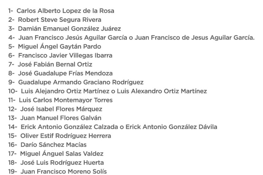 Difunden el primer listado de muertos en Topo Chico