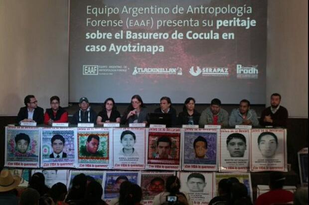 EAAF presenta peritaje sobre Basurero de Cocula en caso Ayotzinapa