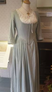 A costume worn by Billie Piper in a movie adaptation of Mansfield Park