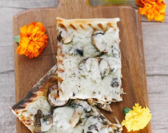 truffled fontina + mushroom flatbread Pizza