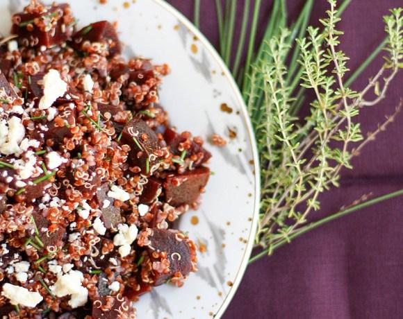 red beet quinoa + feta