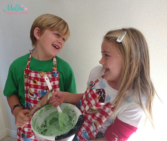 bake holiday cookies with your kids