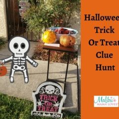 Halloween Trick Or Treat Clue Hunt