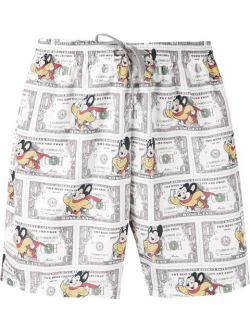 Moschino Money Mouse Print Swim Shorts