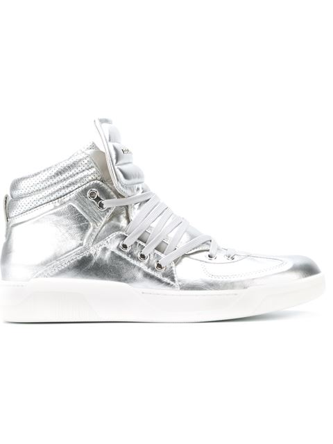 Dolce & Gabbana Metallic Hi-top Sneakers
