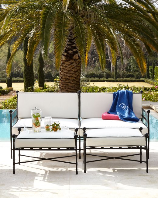 Avery Neoclassical Outdoor Sofa Furniture