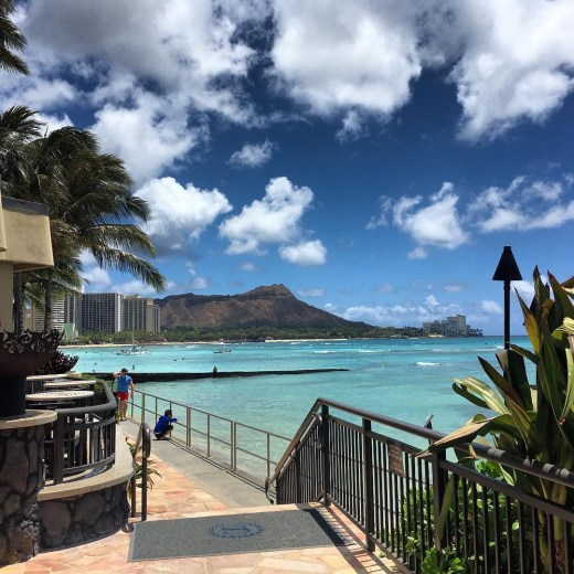 One of the Best Views of Waikiki Beach in Honolulu Hawaii at the Sheraton Hotel