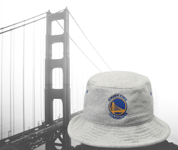 Golden State Warriors Mitchell & Ness Gray Fleece Bucket Hat