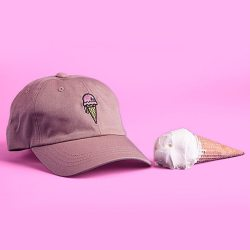 The Ice Cream Cone Khaki Dad Hat by KLP