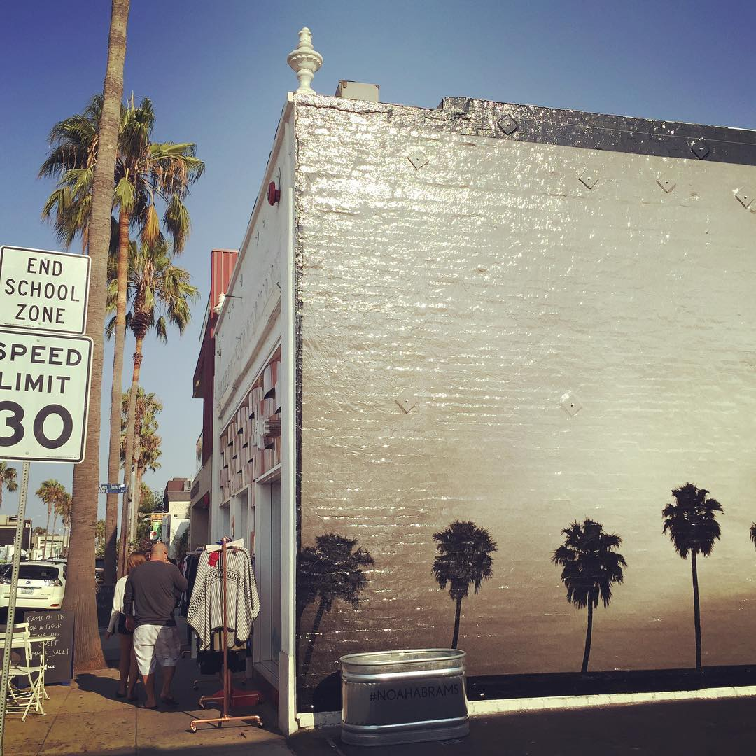 Palm Trees Wall Painting on Abbot Kinney - Venice, California