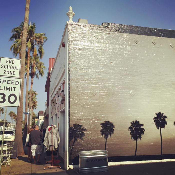 Palm Trees Wall Painting on Abbot Kinney – Venice, California