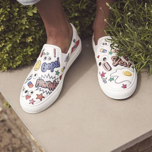 Anya Hindmarch All Over Stickers Womens Sneakers