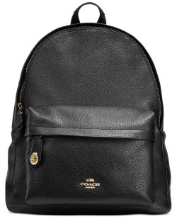 COACH Campus Pebble Leather Backpack
