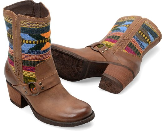 Born Panarea in Etiope Brown Wool Womens Boots