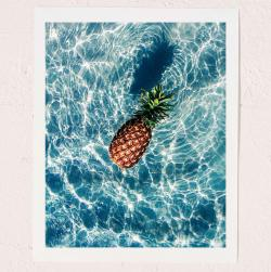 The Floating Pineapple by Dean Martindale Art Print