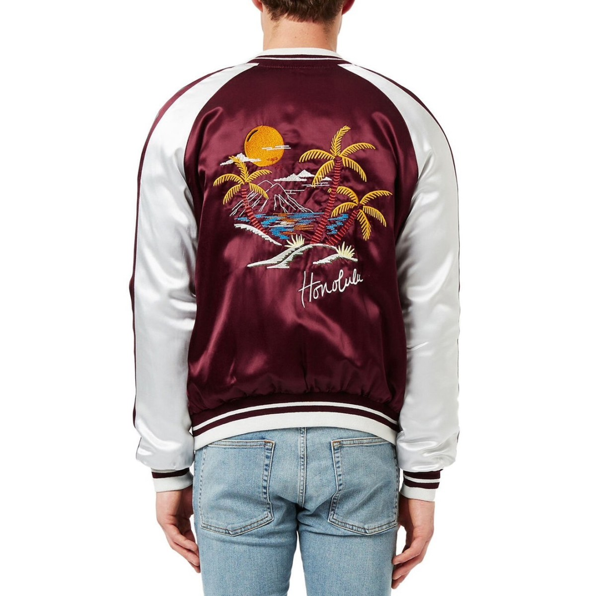Topman Embroidered Honolulu Souvenir Jacket