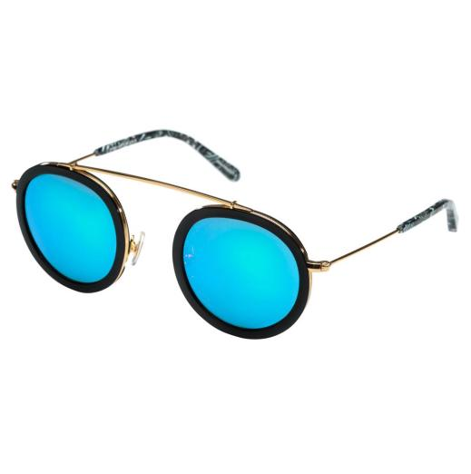 KREWE Conti Mirrored Round Aviator Sunglasses