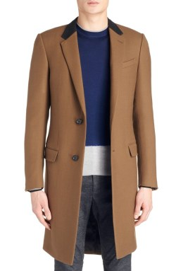 Lanvin Wool Mens Overcoat