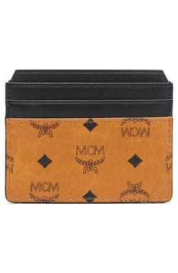 MCM 'Clause' Coated Canvas Card Case