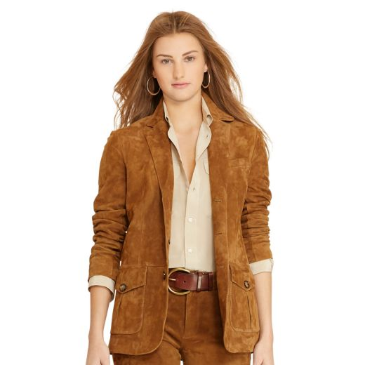 Polo Ralph Lauren Suede Three-Button Womens Jacket
