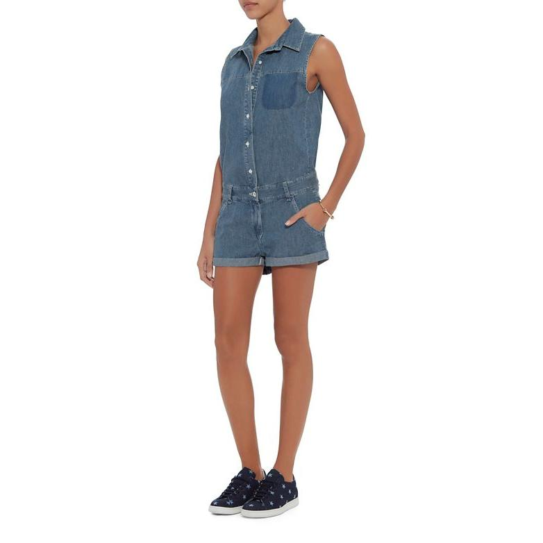 Rag & Bone Cut Out Back Denim Romper