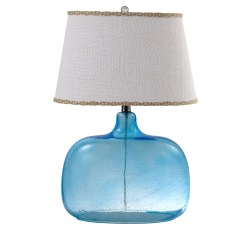 Spa Glass 24″ Table Lamp with Empire Shade