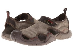 Crocs Swiftwater Khaki & Walnut Sandals