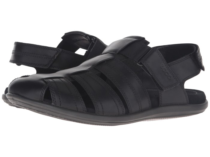 ECCO Chander Classic Fisherman Black Sandals