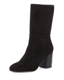 Eileen Fisher Chinch Black Suede Mid-Calf Boots