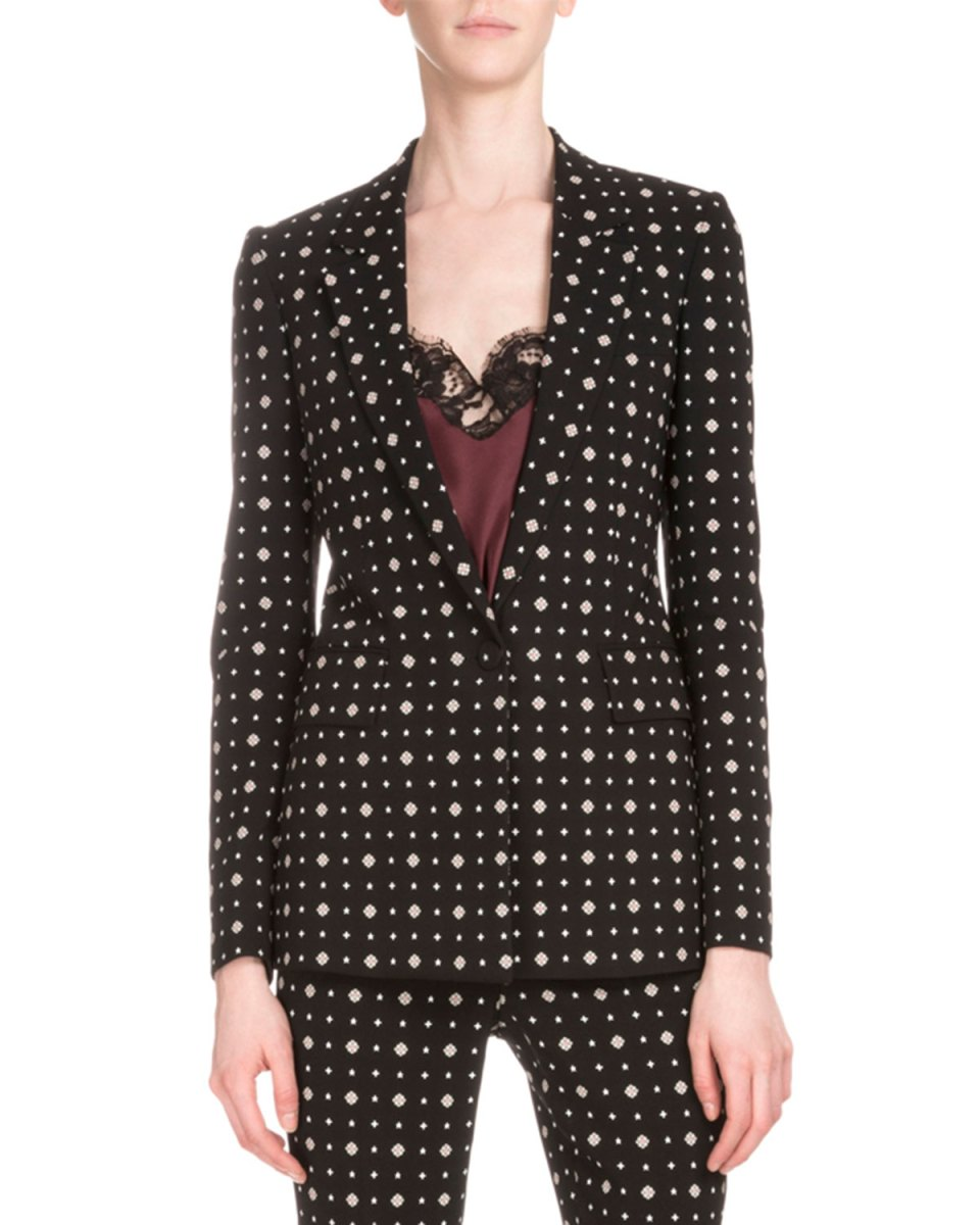 Givenchy Printed One-Button Womens Blazer