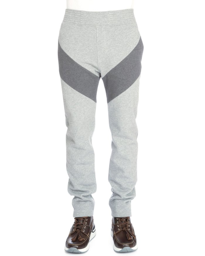 Givenchy Single-Stripe Pull-On Dark Gray Mens Sweatpants