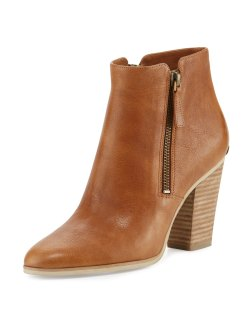 MICHAEL Michael Kors Denver Leather 75mm Bootie Shoes