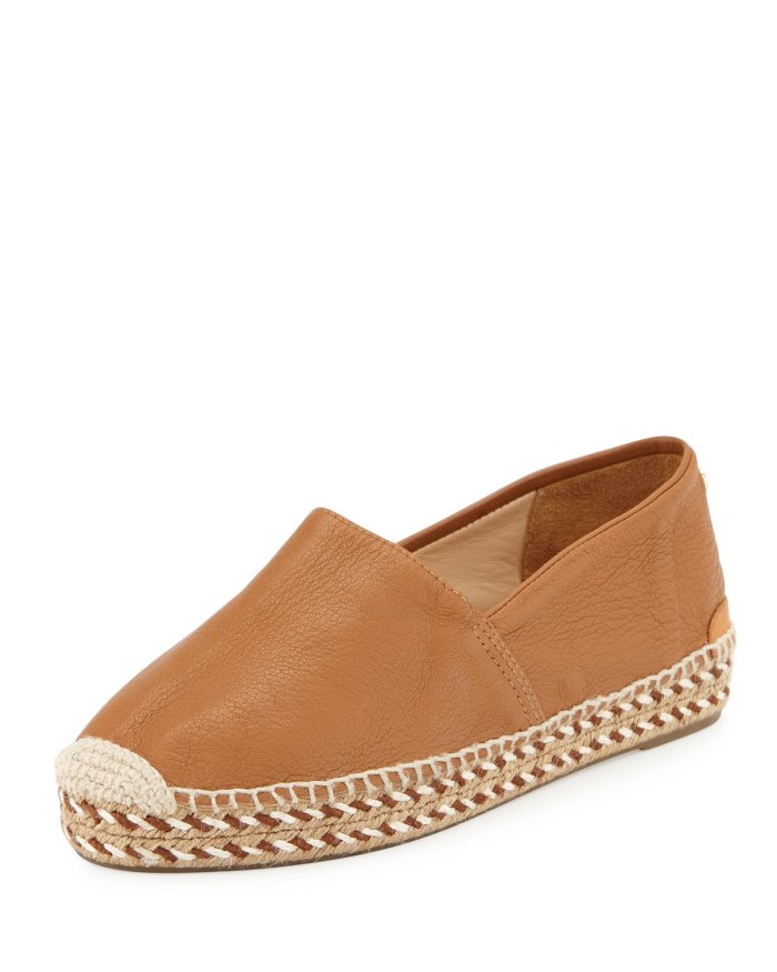 Rag & Bone Noa Walnut Leather Espadrille Flat