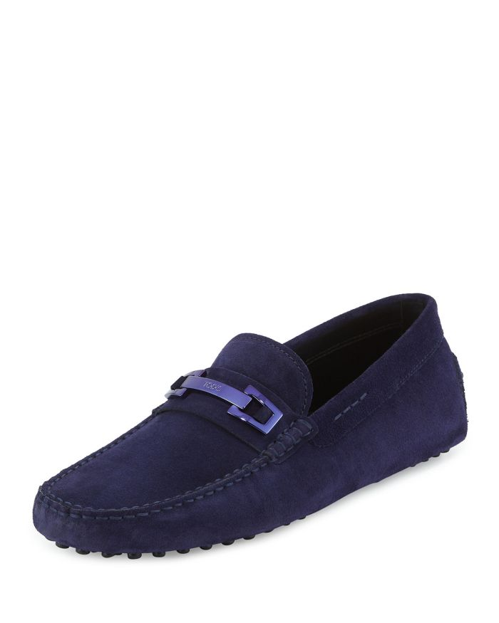 Tod's Gommini Suede Bit Driver Shoes